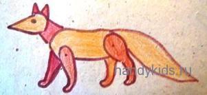 Раскраска Игрушечеая лиса