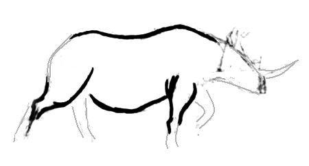 Рисуем носорога