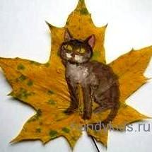 Роспись листьев