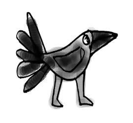 Ворона рисунок