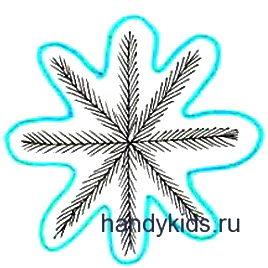 Выполнение штриховки Снежинка