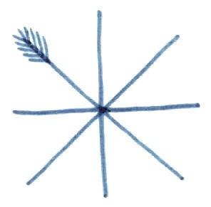 Выполняем штриховку Снежинка