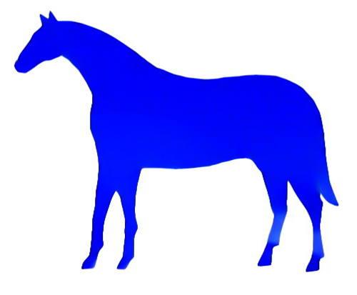Силуэт лошади или коня