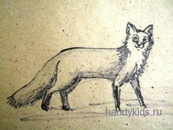 Рисованье лисы