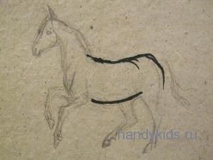 Рисуем коня поэтапно