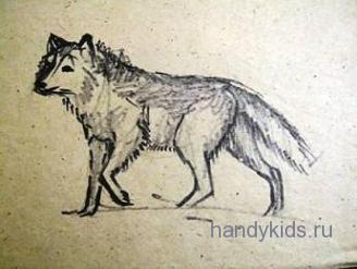 Нарисуем волка
