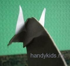 Сделаем поэтапно лошадь из бумаги