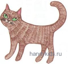 Штриховка кошка
