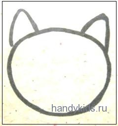 Раскраска-дорисовка Кошечка