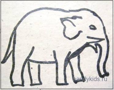 Штриховка Слон