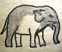 Как выполнить раскраску Слон