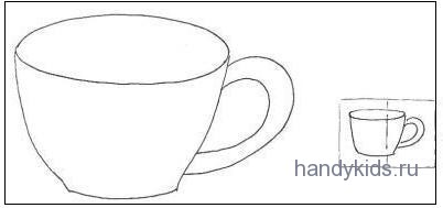Раскраска-чайная чашка
