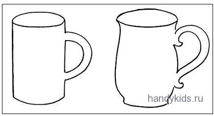 Раскраски-чашки и кружки