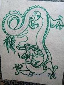 Дракон рисунок