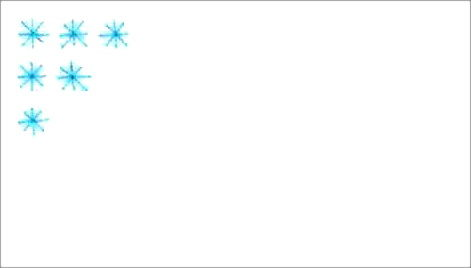 Выполним Узор Снегопад