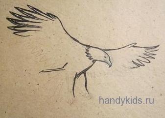 Рисуем орла поэтапно
