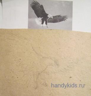 Эскиз -рисуем птицу