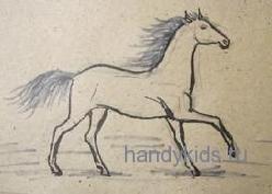 Рисуем лошадь бежит