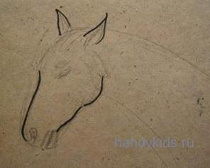 Рисуем морду коня