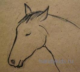 Как рисовать голову коня