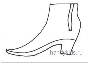Трафарет обувь