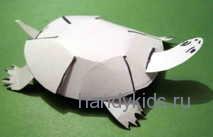 Модель черепаха из бумаги