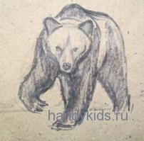Рисунок медведь