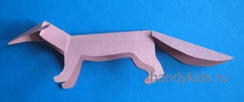 Шея и голова модели лисы