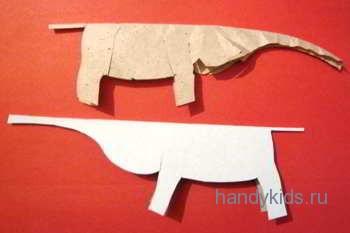 выкройка слона из бумаги