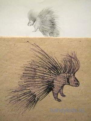 Как рисовать дикобраза