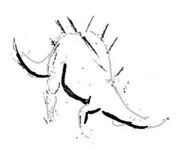 Нарисуем стегозавра -3