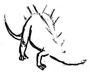 Нарисуем стегозавра поэтапно