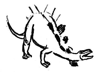 Урок поэтапного рисования стегозавра -7