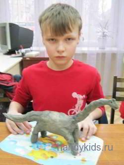 Лепка-брахиозавр