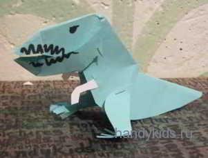Тираннозавр из бумаги или картона
