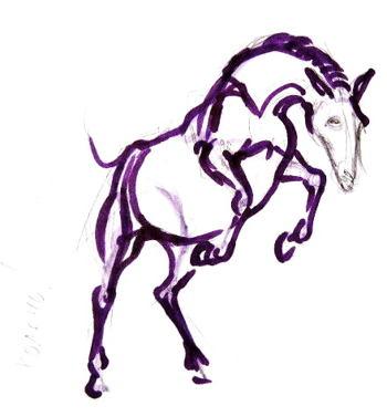 Поэтапный рисунок лошадь