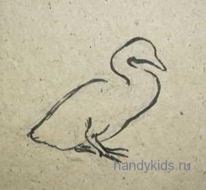 Нарисуем птенца лебедя