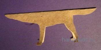 Выкройка волка из бумаги