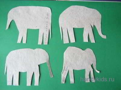 Вырежем силуэт слона