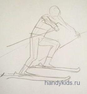 Нарисуем лыжника