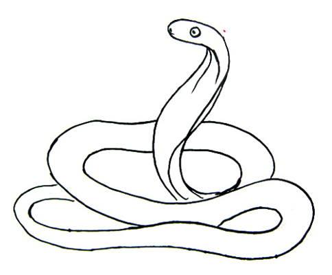 Рисунок свернувшаяся кобра