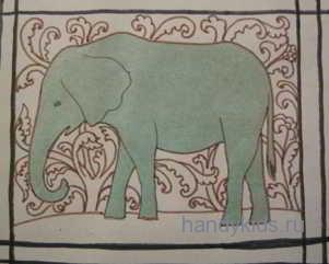 Аппликация Слон