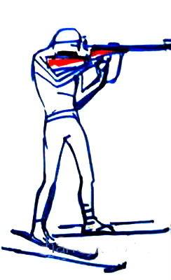 Рисунок биатлонист