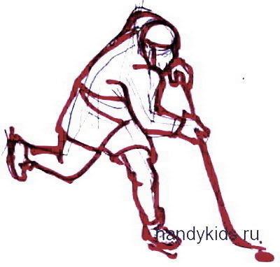 Хоккеист рисунок 19
