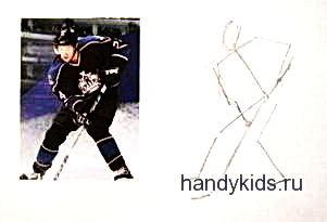 Как рисовать хоккеиста