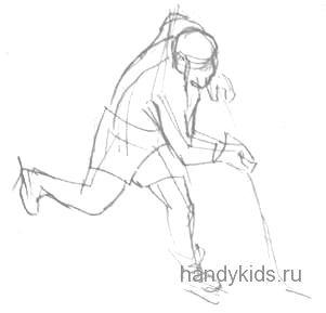 Хоккеист рисунок 49