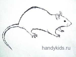 Урок рисования-крыса