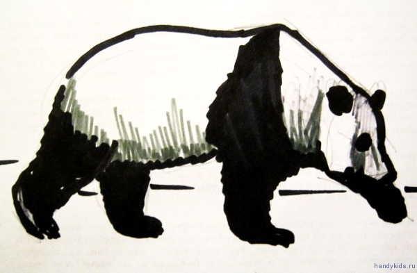 Рисунок Большая панда