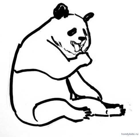 Рисунок панда