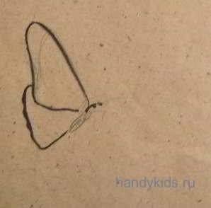 Рисуем сидящую бабочку